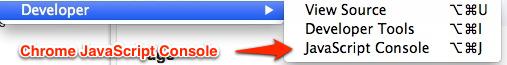 Chrome JavaScript Console